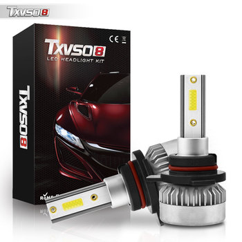 TXVSO8 Brightest 9012 HIR2 LED Headlight Bulb Kit 8000K Cross Reference Conversion Compatibility For Projector Headlights Canada image