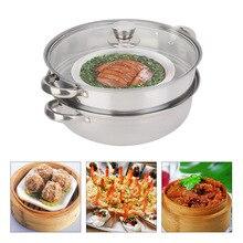 Высокое качество Нержавеющая сталь посуда 27 см/11in 2-Слои горшок Плита пароварки суповая Кастрюля со спуском пара