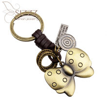 SIZZZ 2019 New Keychain Small Gift Metal Butterfly Factory Direct for women/men(China)