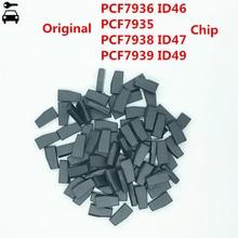 10 قطعة/الوحدة الأصلي PCF7936 ID46 PCF7935 AA PCF7938 ID47 PCF7939FA ID49 128bit رقاقة استنساخ مستجيب لفورد هوندا