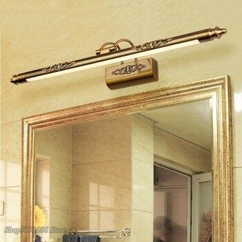 À prova dwaterproof água retro banheiro espelho lâmpada gabinete vaidade luzes led lâmpada de parede arandela luminária moderna casa loft decoração