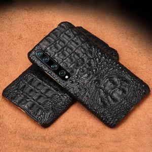 Luksusowy oryginalny krokodyl skrzynka dla xiaomi mi 10 pro 5g CC9 9SE 9 T tylna pokrywa skrzynka dla Redmi k20 pro K30 uwaga 8 9s 7 A2 lite