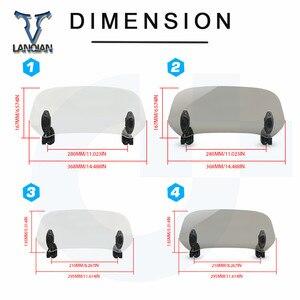 Image 5 - Motorcycle Windshield Adjustable Windscreen Deflector Universal for Suzuki GSX 250R/ABS GSX1400 C90 B.O.S.S C50T C109RT C90T