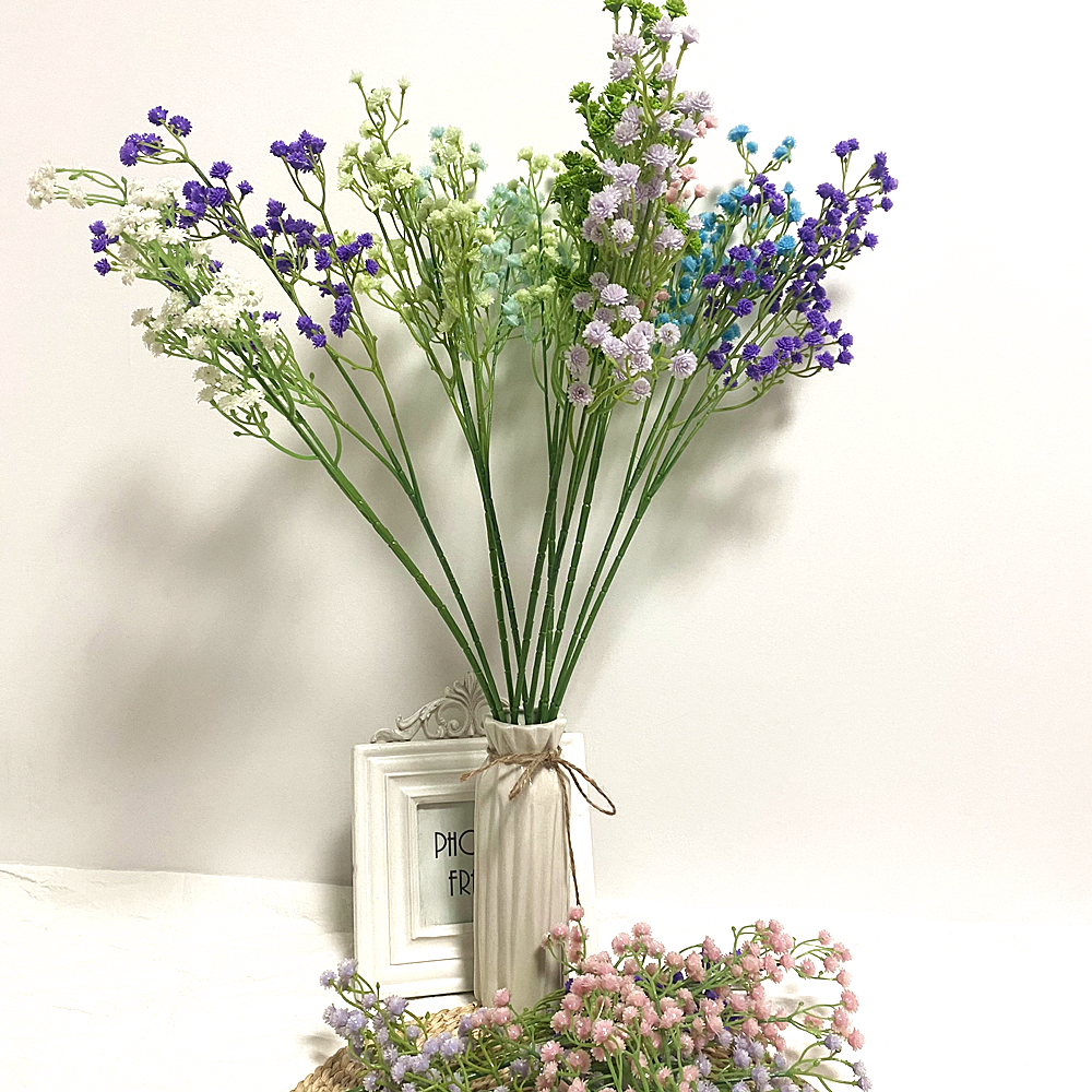 1pc 58cm Artificial Baby S Breath Flower Gypsophila Fake Silicone Plant For Wedding Home Hotel Party Decoration 8 Colors Hot Deal F6687 Cicig