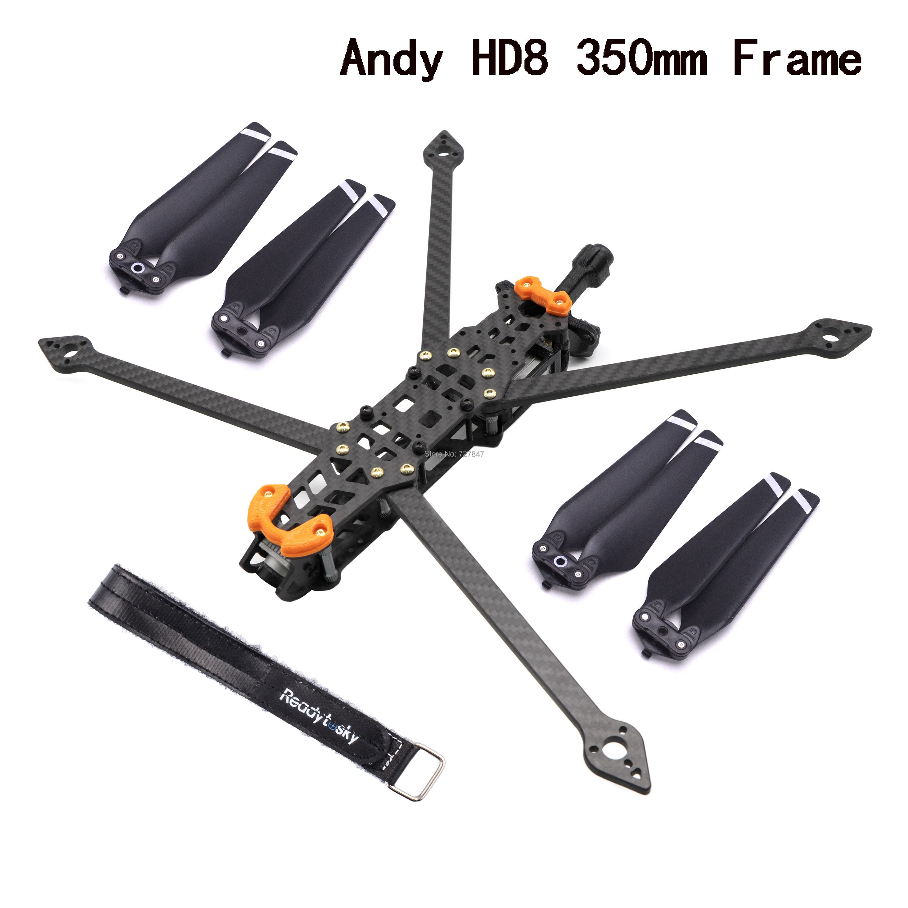 Andy HD8 350mm 8inch With 5mm Arm TPU 3D Printing Parts FPV Racing Drone Quadcopter Freestyle Frame For Martian Rooster QAV-X