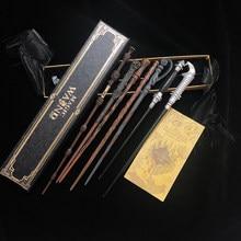 32 tipos de metal núcleo varinhas mágicas cosplay dumbledore hermione voldmort varinha mágica caixa de fita com presentes
