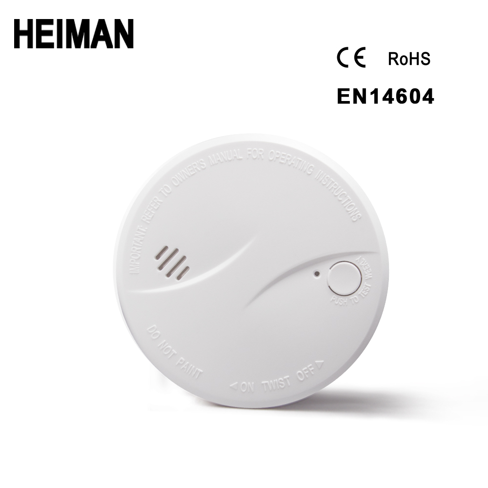 HEIMAN Independent Photoelectric Fire Smoke Detector Alarm High Sensitivity Safety Protection Standalone Sensor Home Security