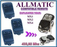 ALLMATIC MX1  MX2 o MX4 Universal control remoto reemplazo clon duplicador código fijo 433 92 MHz