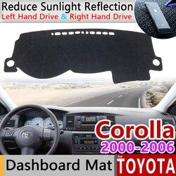 Dla Toyota Corolla E120 E130 2000 2001 2002 2003 2004 2005 2006 Anti-slipmata pokrywa deski rozdzielczej Cape Pad samochodowa osłona przeciwsłoneczna akcesoria