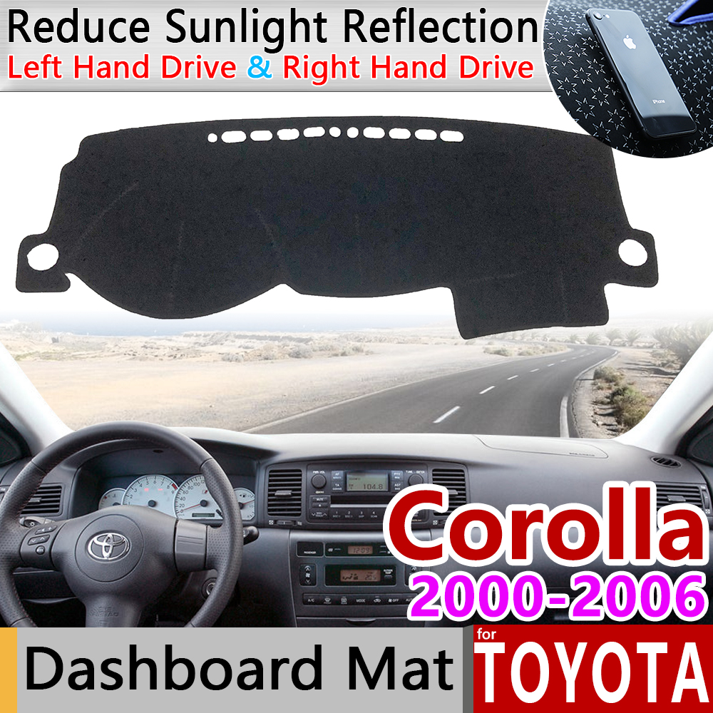 for Toyota Corolla E120 E130 2000 2001 2002 2003 2004 2005 2006 2007 Anti-Slip Mat Dashboard Cover Cape Pad Sunshade Accessories