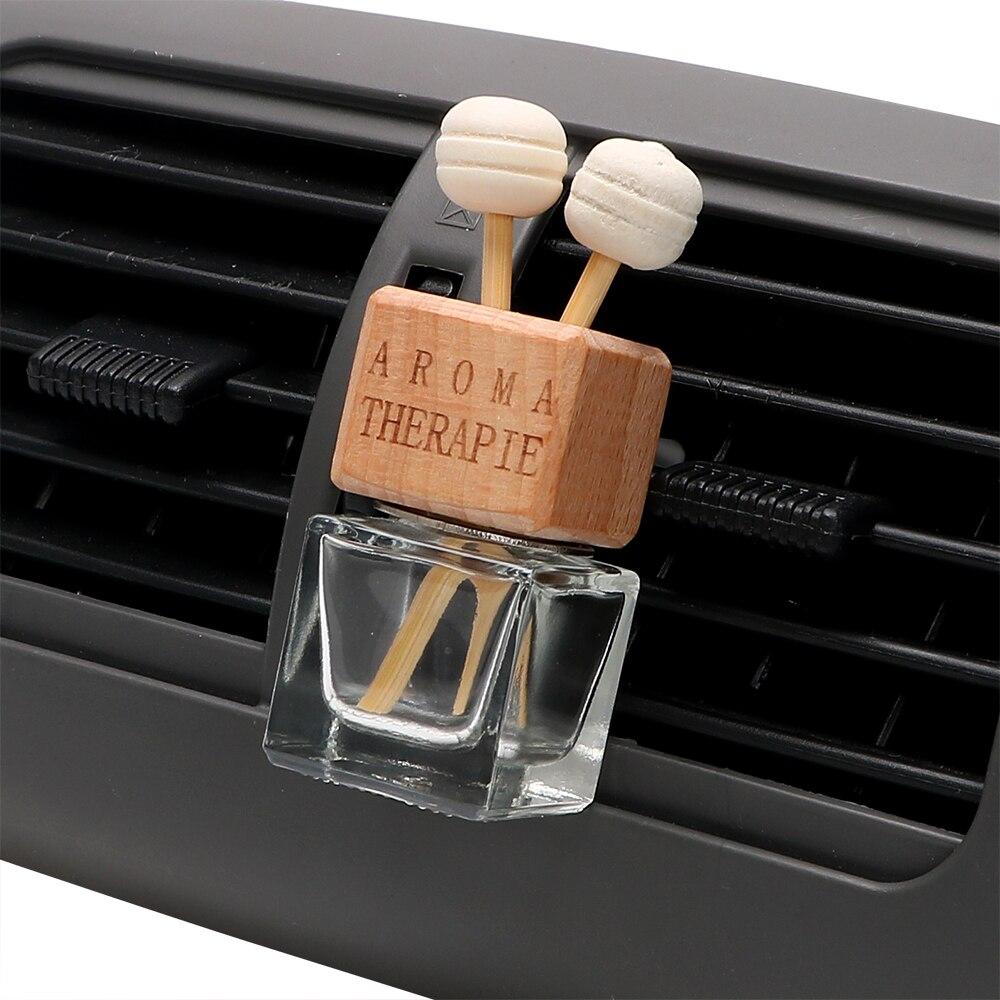Crystal Transparent Air Freshener Car-styling Empty Pendant Ornament Car Perfume Bottle Hanging Glass Oils Bottle