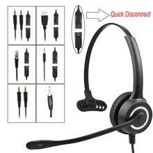 Телефонная гарнитура с шумоподавлением 128 МП, микрофон для звонков, 8 часовая гарнитура для общения, Накладные наушники с одной стороны