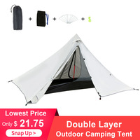 Oudoor Ultralight Camping Tent Double Layer Waterproof Backpacking Tent Outdoor Hiking Tent for Fishing Hunting Beach Travel