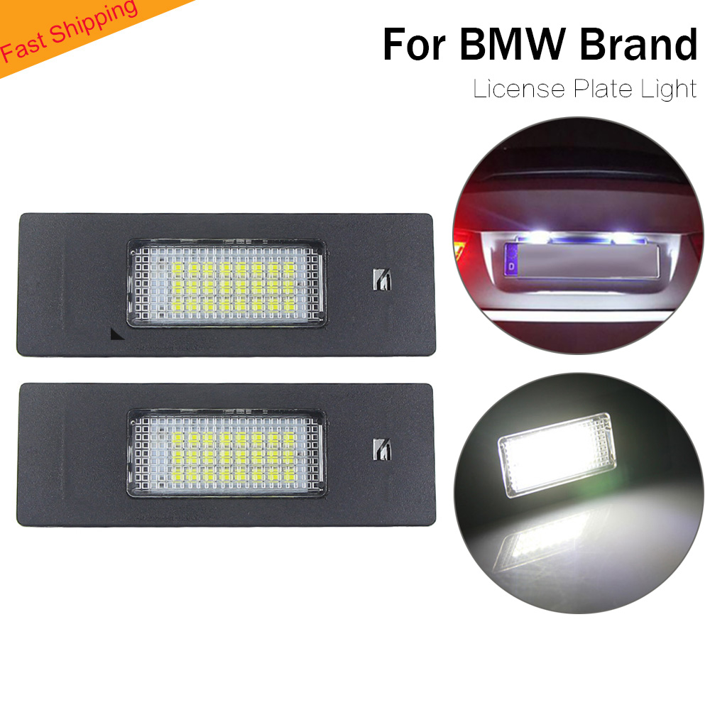 LED License Plate Light for BMW 1 6 Z Series E63 E64 E81 E87 E85 E86 car lighting number plate light lamp error free 2020 new