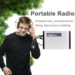 Image 2 - TIVDIO T 101 DAB FM Stereo Radio Pocket Receiver Mini Portable Clock Digital DAB+ RDS Radio Receiver Music Player Earphone F9204