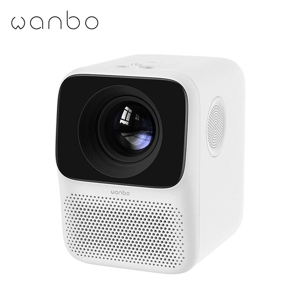 Wanbo t2 livre lcd projetor led mini projetor portátil suporte completo hd 1080p cinema em casa teatro tv beamer-0