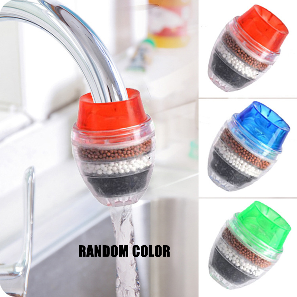 Household Tap Water Purifier Carbon Faucet Water Filter Remove Rust Suspended Kitchen Water Cleaner Water Filtration System