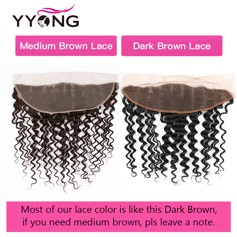 Deep Wave 3 Bundles With Frontal Ear To Ear Lace Frontal With Bundles  Bundle With Closure Middle Ratio 6