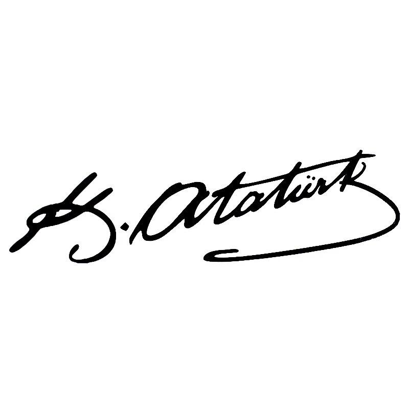 7.5*25cm pour la turquie Mustafa Kemal Ataturk signature voiture autocollant drôle moto autocollants