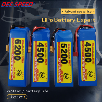 Dee 6S RC lithium battery 22.2V 3300 4200 5200 6000mAh 25C 35C 60C suitable for UAV fimi X8 se helicopter car 6S LiPo RC FPV image