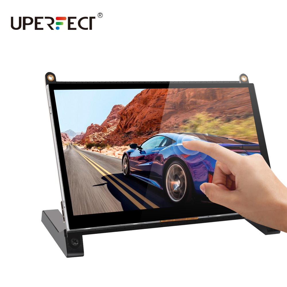 Uperfect 7.0 inch touch IPS screen portable monitor for Raspberry Pi 4 3 2 PS4 SWITCH XBOX PC gaming monitor with Prop Stand image
