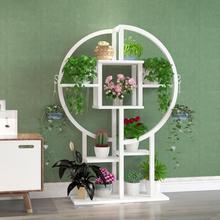 European-style flower rack sitting room high-grade greenish combination of floor iron shelf