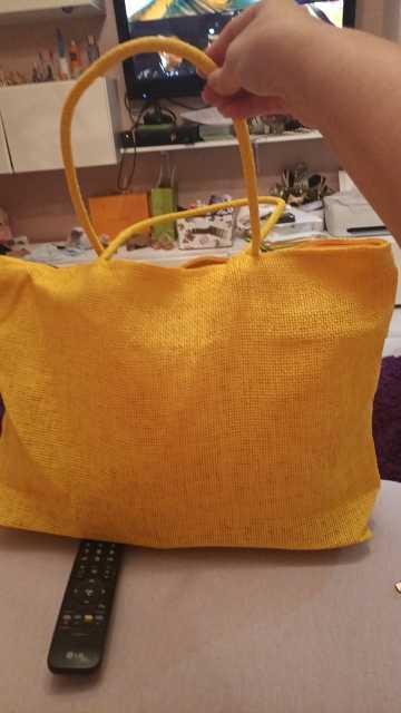 Besar Jerami Pantai Tas Lipat Tas Belanja Dapat Digunakan Kembali Fabre Tas Wanita 2019 Baru Fashion Sederhana Permen Warna Sac De plage # S