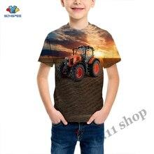 Summer Streetwear Child T Shirt Tractor Truck 3D Print Harajuku T-Shirt Baby Fashion Casual Short Sleeve Boy Girl Car Clothing