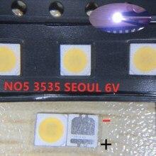 2000 sztuk dla seul 3535 LED 2W 6V 3535 fajne białe podświetlenie LCD wysoka dioda LED dużej mocy podświetlenie dla TV do TV SBWVL2S0E
