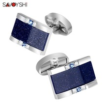 SAVOYSHI Low-key Luxury Star Stone Cufflinks for Mens Shirt Brand Cuff buttons High Quality Square Cufflings Gift Men jewellery трос буксировочный зубр эксперт 2 крюка сумка 5м 2 5т