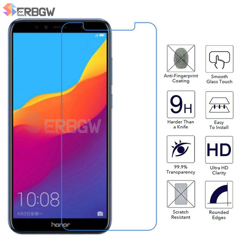 Full Glue Tempered Glass For Huawei Honor 9 10 Lite Glass Screen Protector For Honor 7A 7C Pro 8C 8X 8A 9X Protective Glass Film