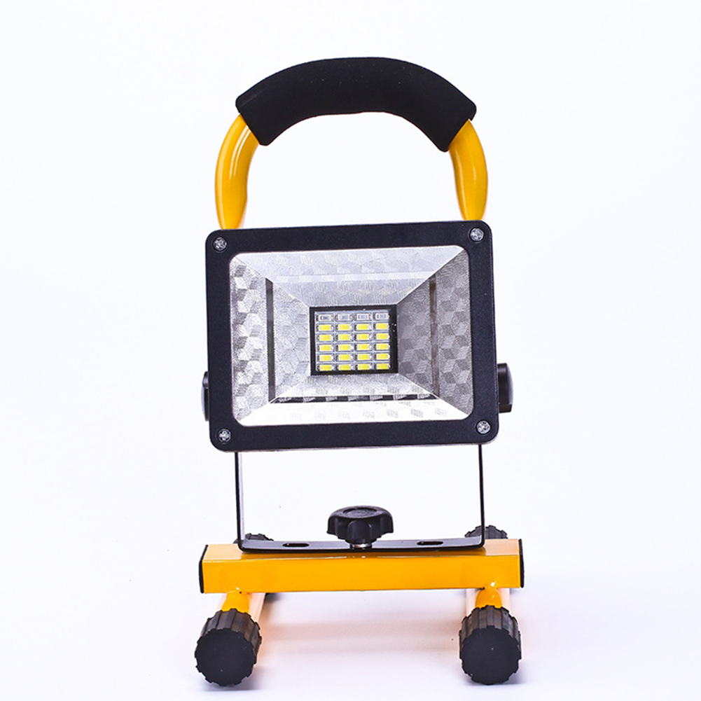 Lawn Lamp LED Flood Light Strong Light Searchlight Construction Site Move Miner's Lamp Red and Blue Flash Warning Light