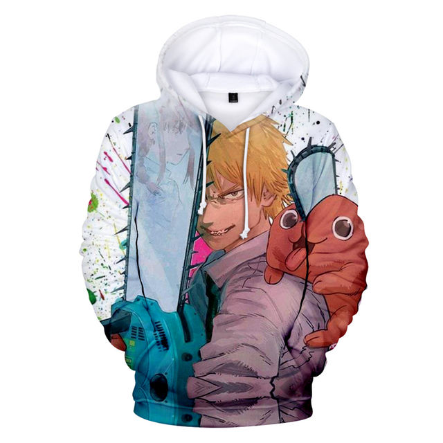 CHAINSAW MAN THEMED 3D HOODIE (9 VARIAN)