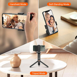 Image 3 - Smartphone Selfie Booster Handle Grip Bluetooth Photo Stabilizer Holder with Shutter Release 1/4 Screw Phone Stand