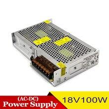 18v dc fonte de alimentação ac dc18v 100w fonte de alimentação de comutação 220v 110v AC-DC smps para monitoramento de acesso cctv motor