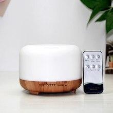Aroma difusor de óleo essencial umidificador ar difusor aromaterapia 450ml elétrica ultra sônica umidificadores fabricante névoa fria lâmpada led