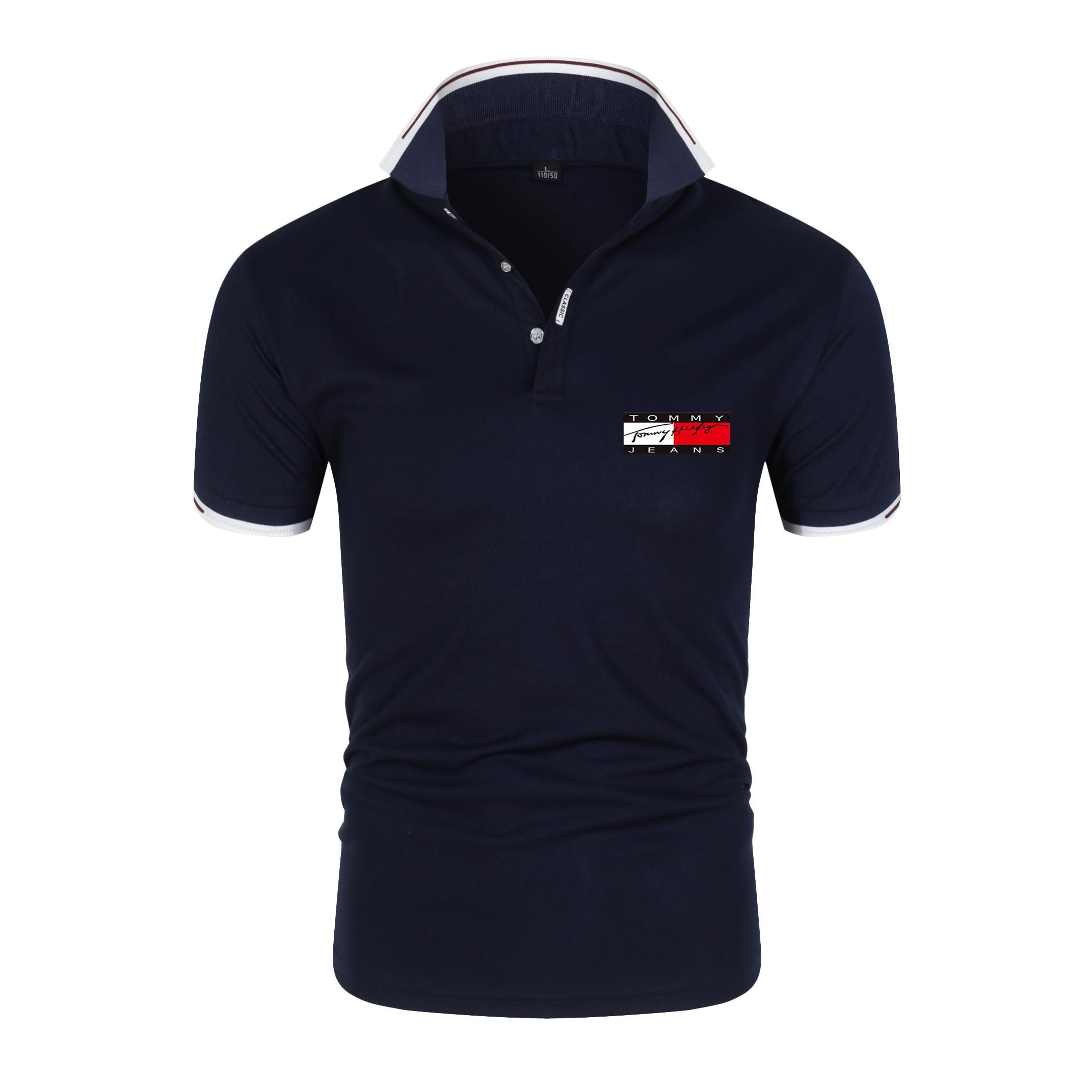 2021 marka m?ska koszulka Polo wysokiej jako?ci m?ska Casual bawe?nianakawkiem marki odzie? Jersey lato stojak ko?nierz m?ska