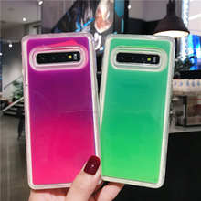 Luminous Neon Sand soft Case For Samsung Galaxy S8 S9 S10 Plus Back cover Lite Note 8 9 Liquid Quicksand Cases