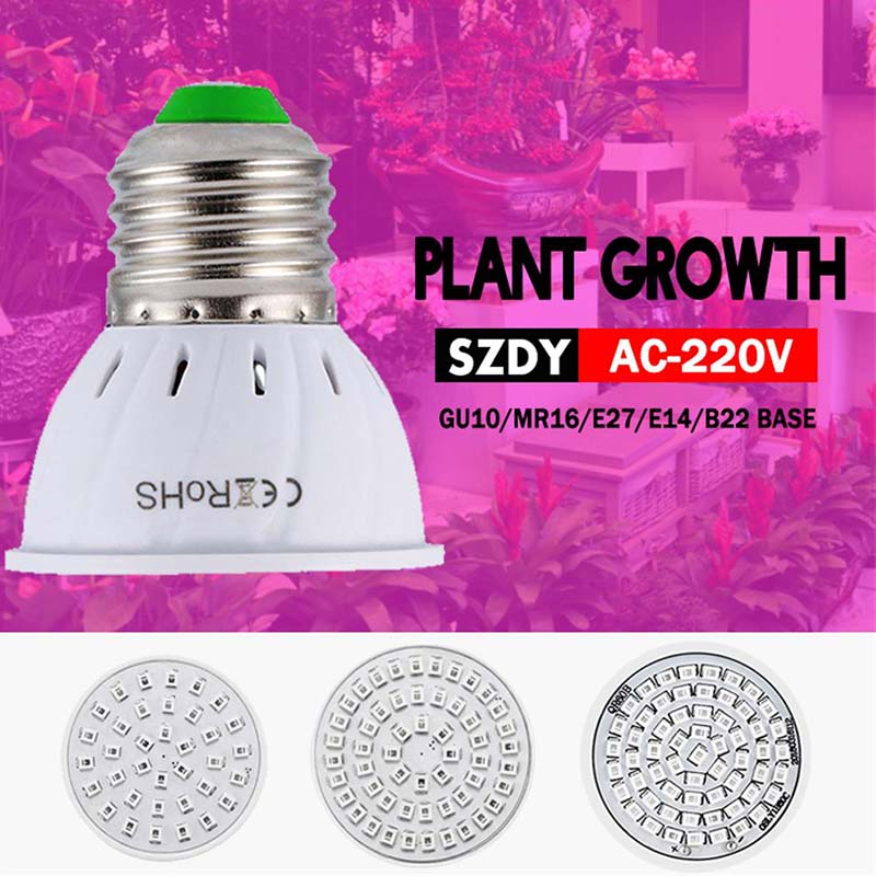 Full Spectrum E27 220V LED Plant Grow Light Bulb Phyto Lamp For Indoor Garden Plants Flower Hydroponics Grow Tent Box