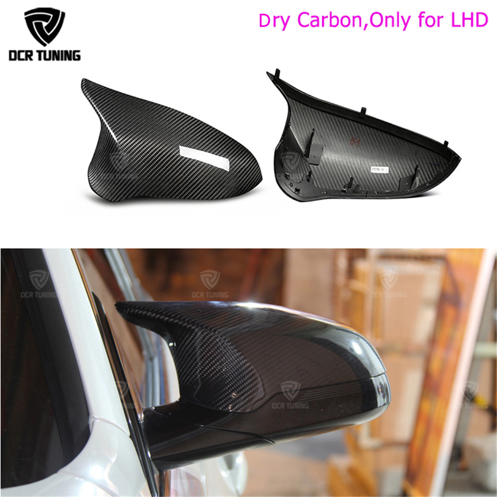 Real M3 M4 replacement part side door mirror cover for BMW M3 M4 f80 f82 f83 2014 2015 2016 - UP Dry Carbon side caps