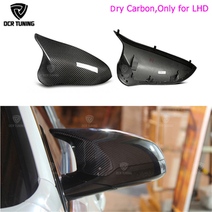 Real M3 M4 replacement part side door mirror cover for BMW M3 M4 f80 f82 f83 2014 2015 2016 - UP Dry Carbon side caps(China)
