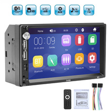 цена на 7 inch Car Multimedia Audio Player Stereo 2 Din Radio Touch Screen HD MP5 Player Support Bluetooth Camera FM USB SD Aux FM