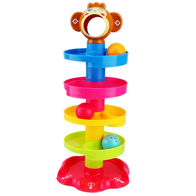 Baby Rolling Ball Bell Toy Pile Tower Educational Toy Children Rattle Ring 0-24 Months Child Newborn Puzzle Learning Gift