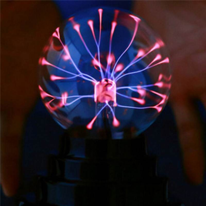 3 Inch Butterfly Plasma Ball Light Table Lamp Cool Magics Fun Science Electricity Desktop Decor Night Lantern Christmas Holiday
