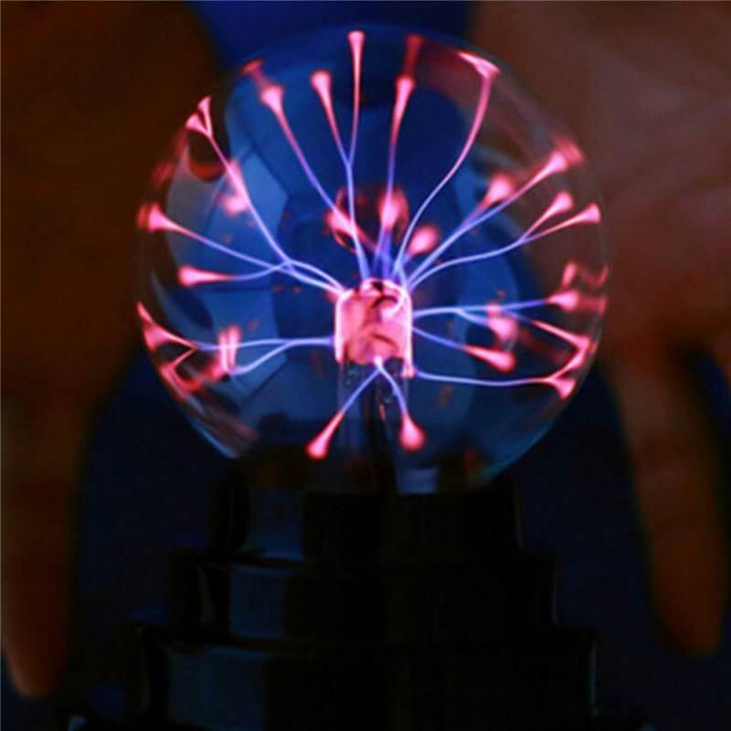 3 Inch Butterfly Plasma Ball Light Table Lamp Cool Magics Fun Science Electricity Desktop Decor Night Lantern Christmas Holiday