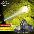 XHP70.2 светодиодный налобный фонарь XHP70  самый мощный желтый или белый светодиодный фонарь для рыбалки  кемпинга  масштабируемый фонарь  3 бата...