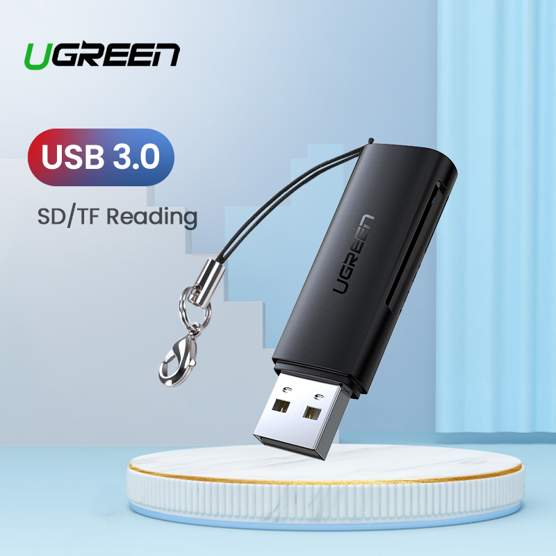 Ugreen leitor de cartão usb 3.0 2.0 para sd micro sd tf adaptador de cartão de memória para acessórios do portátil multi smart cardreader leitor de cartão