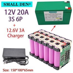 Image 1 - Batterie li ion 3S 18650 V 12ah 20ah 12.6 pour appareil de pulvérisation, alimentation ininterrompue avec BMS 20a équilibré + chargeur