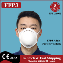 Respirator FILTER Ffp3-Mask Face-Mouth-Masks Protective Personal IVROU EU 5-Layers Headwear