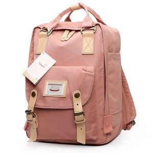 Image 3 - Japanischen und Korea Rucksack Frauen Große Kapazität Schule Rucksack Leinwand Rucksack Für Mädchen Mode Vintage Laptop Reisetaschen